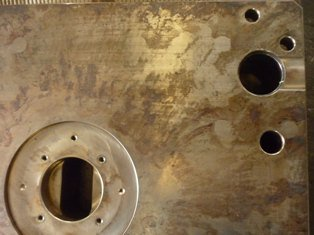 Mold Backplate Deflection Hard Marks